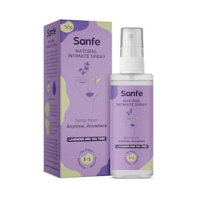 Sanfe Intimate Spray with Tea Tree and Witch Hazel - 50 ml - Prevents roughness, Fungal Infections, Rashes in the Bikini area