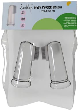 SanNap Baby Finger Brush (Clear;Pack of 2)