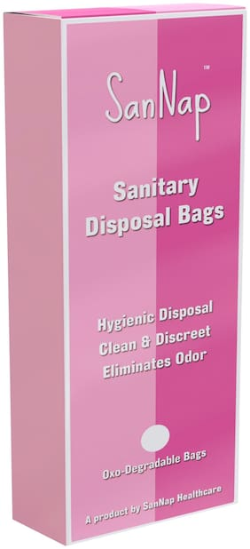 SanNap Sanitary Napkin and Intimate Disposable Bags 100 gm (Pack of 1 set pf 40 pcs)