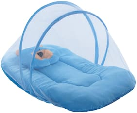 Satpal Baby Velvet Bedding Set With Mosquito Net And Pillow (Pack Of 1)