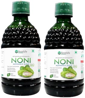 Scorlife Noni Advance Juice 500ml. No Added Sugar (Pack of 2)
