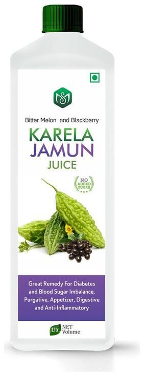 Scorlife Karela Jamun Juice 1000ml. No Added Sugar