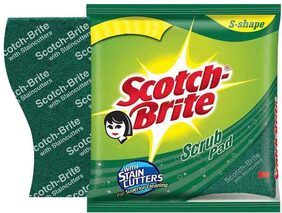 Scotch Brite Scrub Pad Large  Set Of 3Pcs 1Pc