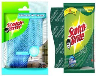 Scotch Brite Scrub Net Sponge (2 Units) & Scrub Pad Large (3 Units)