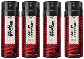 Wild Stone Red Deodorant For Men, Pack of 4 (150 ml each)
