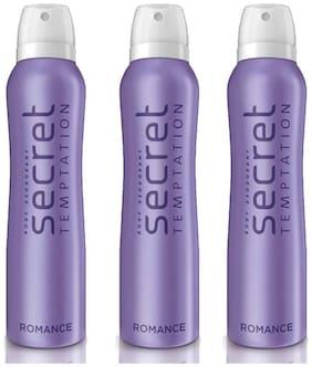 Secret Temptation Romance Deodorant (Pack Of 3) 150 ml Each