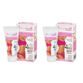 Securteen Hair Remover Cream 60g for Bikini Line & Underarms (Pack of 2)