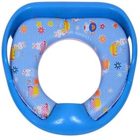 Sed Lavatory Potty Seat Cushioned For Kids With Handle Blue