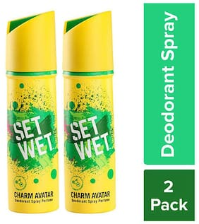 Set Wet Charm Avatar Deodorant Spray Perfume, Pack of 2, 150 ml