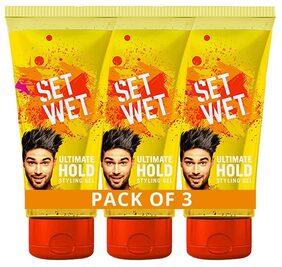 Set Wet Hair Gel Ultimate Hold 100 ml ( pack of 3)