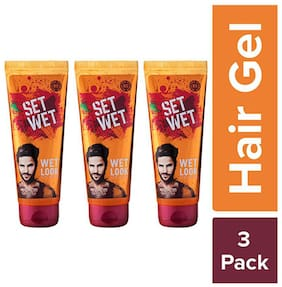 Set Wet Wet Look Hair Gel, Pack of 3, 100 ml