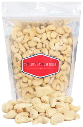 SFT Cashews (Pure Mangalore) Kernels Nut Roasted & Salted, Premium Quality Golden Brown [Big Size, Kaju Namak] (Grade- 210 No.) 500 Gm