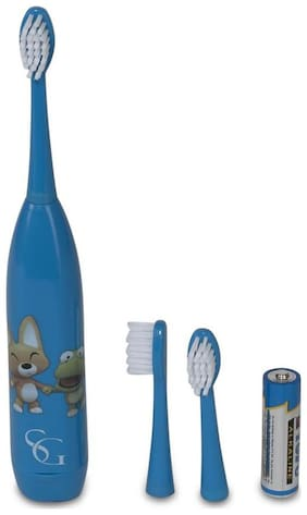 SG Blue Cartoon Print Sonic Toothbrush for Kids