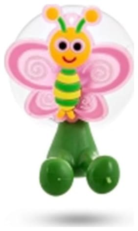 SG Pink & Yellow Butterfly-Shaped Toothbrush Holder