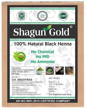 Shagun Gold 100 % Pure Natural Black Henna  Powder For Hair 200 g