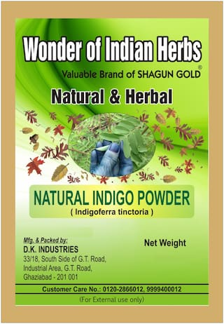 Shagun Gold Indigo Hair Leaf Powder % Pure Natural 100G pack Of Two