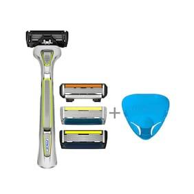 Letsshave Shaving Trial Pack + Razor Cap (Green Handle)