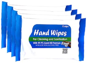 SHI Hand Wipes pack of 60 wipes (15 wipes x 4 packets) (60 pc)