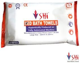 SHI Hygiene Bed Bath Towel Wet Wipes For Face Men Women Cleansing & Refreshing Sponge Bath Pack of 3