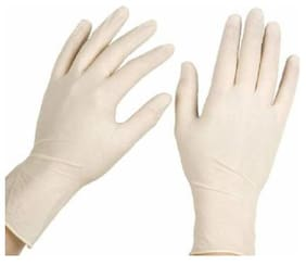 Shop & Shoppee Latex Medical Examination Disposable Hand Gloves for Hand-Security to Infection Latex Examination Gloves (Pack of 10)