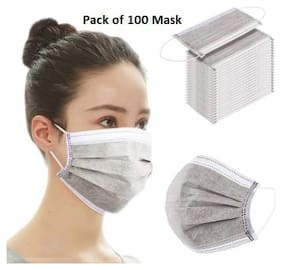 Shop & Shoppee 100 Piece Extra Thick Extra Protective 3 Ply Pharmaceutical Surgical Face Mask(Grey, 100 Masks)