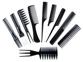 Shopeleven Multipurpose Salon Hair Styling Hair Combs Professional Use Comb Kit 10 pcs