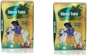 Shree Tulsi Pure Desi Ghee 500ml Tetra Pack of -2