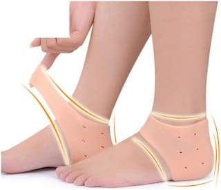 Silicone Gel Moisturising HeelPad Socks for Pain Relief Gel Heel Socks for Dry Hard Cracked Heel Repair Pad Cushion Support Ankle Protection for Men and Women
