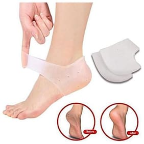 Silicone Gel Heel Pad Socks for Pain Relief for Men and Women (Free Size) - 1 Pair