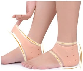 Silicone Gel Pad Socks for Heel Swelling Pain Relief  Foot Care and Ankle Support Cushion