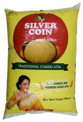 Silver Coin Chakki Fresh Atta - Traditional 10 kg