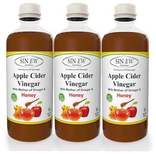 Sinew Apple Cider Vinegar With Honey - 500 ml (Pack of 3)