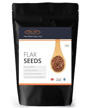 Sinew Nutrition Flax Seeds  Fibre And Omega-3 Rich Superfood - 800 g