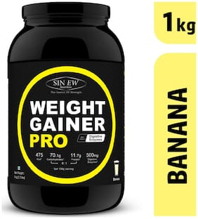 Sinew Nutrition Weight Gainer Pro With Digestive Enzymes Banana 1 kg