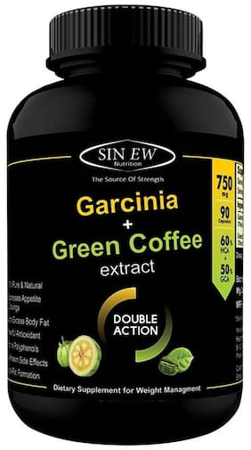 Sinew Nutrition Weight Management Combo 750 mg (Garcinia Cambogia And Green Coffee Bean Extract) 90 Caps