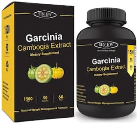 Sinew Nutrition Garcinia Cambogia Extract - (90 Capsules) 1500 mg 100 % Veg Pure & Natural Weight Management & Appetite Suppressant Supplement