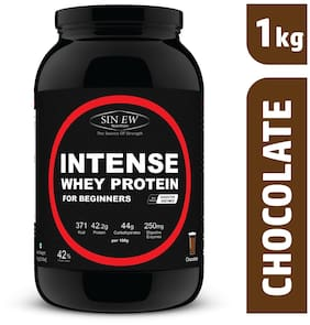 Sinew Nutrition Intense Whey Protein For Beginner's With Digestive Enzymes Protein Supplement - Chocolate Flavour 1 kg