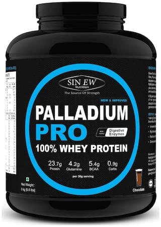 Sinew Nutrition Palladium Pro Whey Protein With Digestive Enzymes 3 kg (Chocolate Flavour)