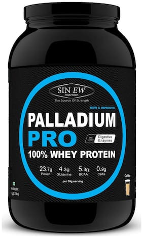 Sinew Nutrition Palladium Pro Whey Protein With Digestive Enzymes 1 kg (Coffee Flavour)