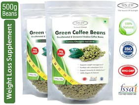 Sinew Nutrition Green Coffee Beans 400 g + 100 g Free (250 g X 2 pcs.)