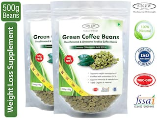 Sinew Nutrition Green Coffee Beans 400 gm + 100 gm Free (250 gm X 2 Pcs.)