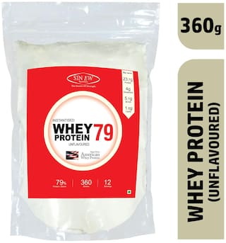 Sinew Nutrition Instantised Raw Whey Protein Concentrate 79% Unflavoured 360 gm (12 Servings) Supplement Powder