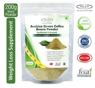 Sinew Nutrition Green Coffee Beans Powder 200 gm For Weight Management