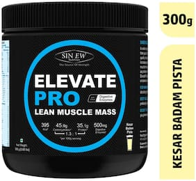 Sinew Nutrition Elevate Pro With Digestive Enzymes 300 gm Mass Gainer Powder Kesar Badam Pista