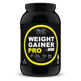 Sinew Nutrition Weight Gainer Pro With Digestive Enzymes Kesar Badam Pista 1 kg