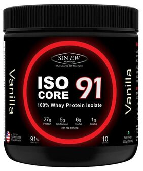 Sinew Nutrition Isocore 91 Whey Protein Isolate 300 gm - Vanilla Flavour