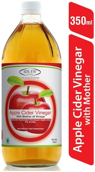Sinew Nutrition Raw Apple Cider Vinegar (Unfiltered & Unpasteurised) With Strands of Mother 350 ml