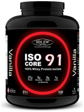 Sinew Nutrition Isocore 91 Whey Protein Isolate 3 kg - Vanilla Flavour