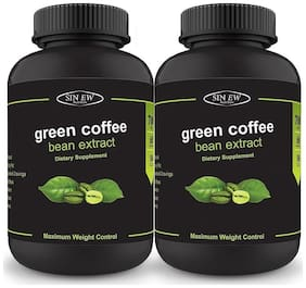 Sinew Nutrition Green Coffee Beans Extract 700 mg (60 Pure Veg Capsules) Pack of 2 100 % Pure & Natural Weight Management & Appetite Suppressant Supplement