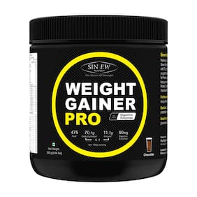 Sinew Nutrition Weight Gainer Pro with Digestive Enzymes;Chocolate;300 g